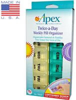 Apex, Twice-A-Day Weekly Pill Organizer