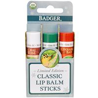 Badger Company Classic Lip Balm Sticks iherb