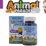 Детский жевательный кальций со вкусом ванильного мороженого Nature's Plus, Animal Parade, Calcium, Children's Chewable Supplement, Natural Vanilla Flavor