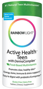 Rainbow Light, Active Health Teen with Derma Complex, Food-Based Multivitamin