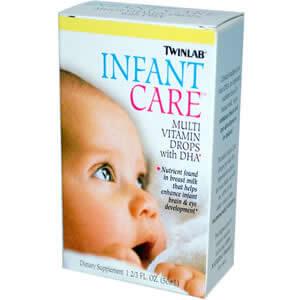 Twinlab, уход за младенцами, Мульти Витамин с DHA