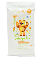 BabyGanics, Hand Sanitizing Wipes, Alcohol Free, Mandarin,