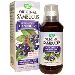 Nature's Way, Original Sambucus, стандартизированный экстракт бузины, 240 мл iherb