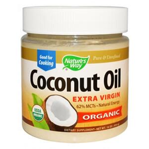 1. Nature's Way, Органическое Кокосовое масло, Нерафинированное, 454 г