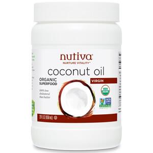 Nutiva, Органическое Кокосовое масло, Рафинированное, 444 мл
