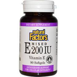 Natural Factors, Mixed E 200 IU, Vitamin E, 90 Softgels