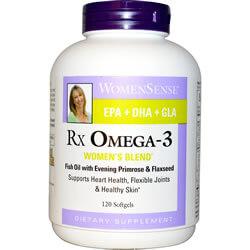 Natural Factors, WomenSense, RxOmega-3, Women's Blend, 120 gels