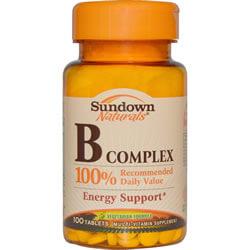 Rexall Sundown Naturals, B Complex, 100 Tab
