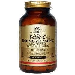 Solgar, Ester-C Plus, Витамин С, 1000 mg,  90 Tab