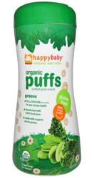 Nurture Inc. Organic Baby Food, Organic Puffs, Greens