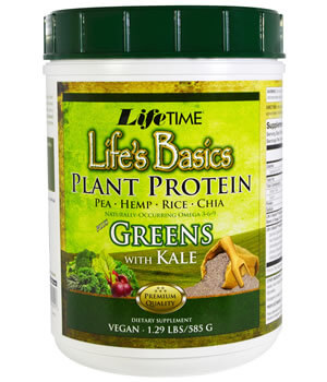 Life Time, Life's Basic Plant Protein Plus Greens with Kale