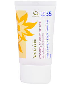Innisfree, Eco Safety No Sebum Sunblock, SPF 35 PA+++