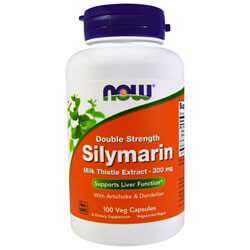 Now Foods, Silymarin, Milk Thistle Extract, 300 mg, 100 Veggie Caps