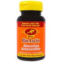 Nutrex, BioAstin, Гавайский астаксантин, 12 мг, 50к