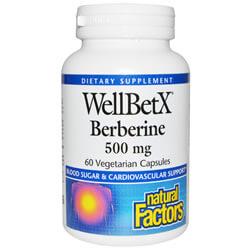 Natural Factors, Берберин WellBetX, 500 мг