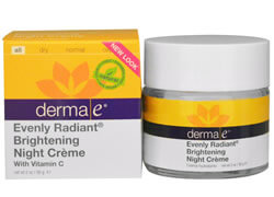 Derma E, Evenly Radiant Brightening Night Cream, with Vitamin C
