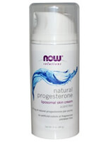 Now Foods, Natural Progesterone, Liposomal Skin Cream, 85 g