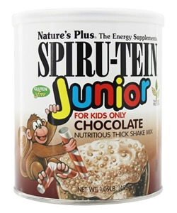 Nature's Plus, Spiru-Tein Junior, Nutritious Thick Shake Mix, Chocolate