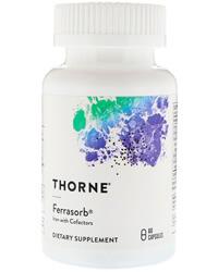 Thorne Research, Ferrasorb, Хелатное железо