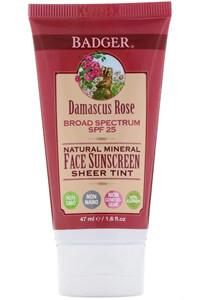 Badger Company, Natural Mineral Face Sunscreen, Sheer Tint