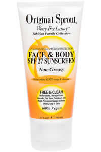 Original Sprout Inc, Face and Body, SPF 27 Sunscreen