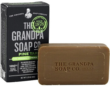 Grandpa's, Face Body & Hair Bar Soap, Pine Tar