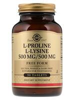 Solgar, L-Proline/L-Lysine, Free Form