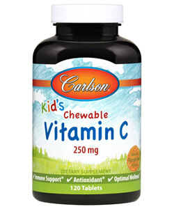 Carlson Labs, Kids Chewable DHA, Bursting Orange Flavor