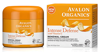 Avalon Organics, Intense Defense, With Vitamin C, Renewal Cream