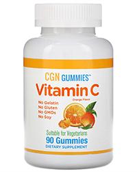 California Gold Nutrition, Витамин С в виде жевательных конфеток с апельсиновым вкусом