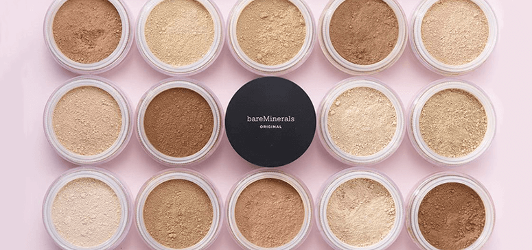 bareMinerals powder and brush