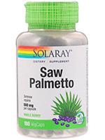 Solaray, Saw Palmetto Цельные ягоды, 580 мг